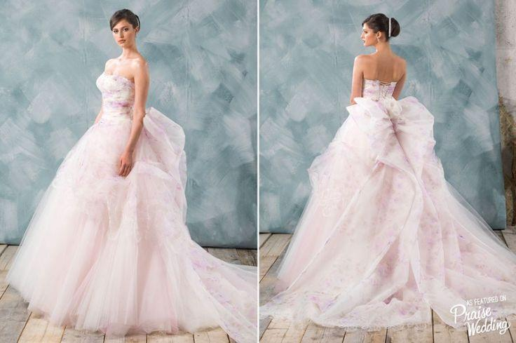 Свадьба - How Dreamy Is This Watercolor-inspired Floral Gown By Delsa Couture?