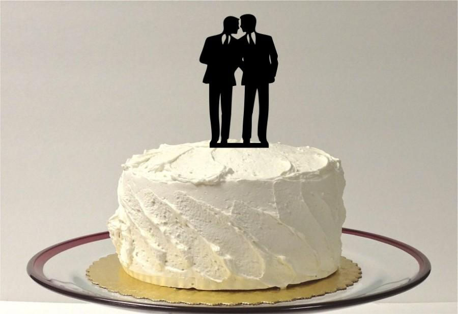 Hochzeit - Gay Wedding Cake Topper Same Sex Cake Topper Gay Cake Topper Gay silhouette Homosexual Wedding Cake Topper For Men Gift
