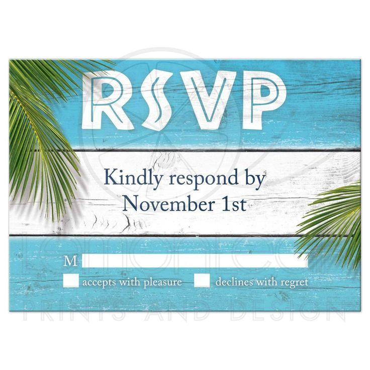 Wedding - RSVP - Turquoise Sandy Toes Salty Kisses