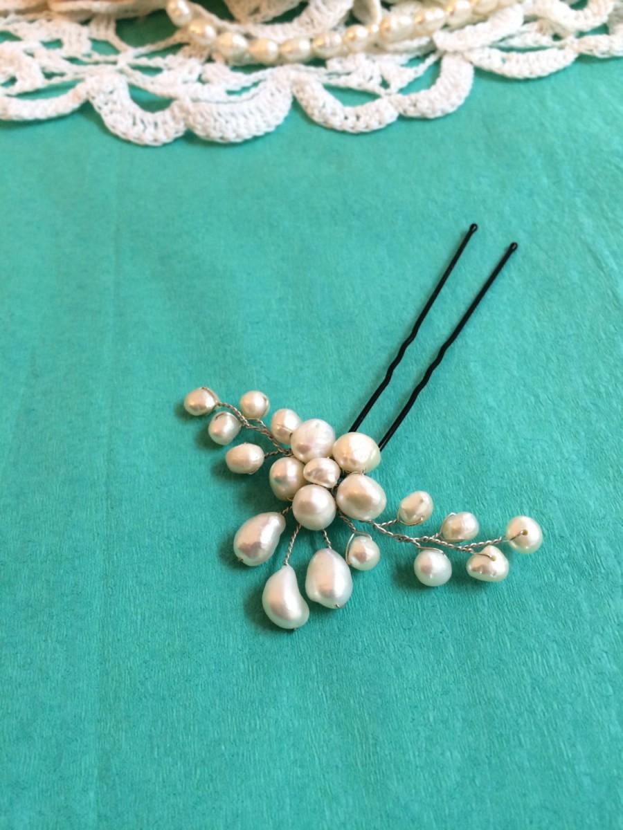 Mariage - Bridal hair pin, wedding hair pins, pearl hair pin bridal, flower hair pins wedding, pearl hair pin for wedding, pearl wedding accessories