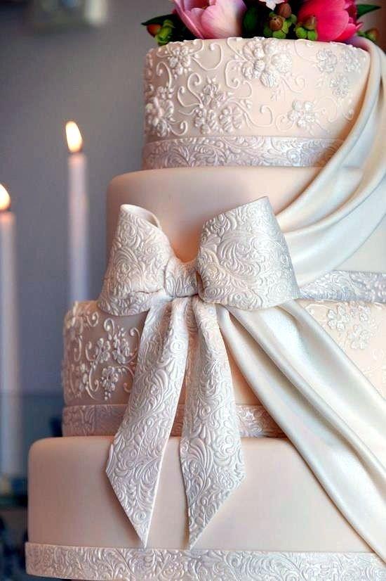 زفاف - 可愛いが詰まってる!リボンモチーフのウェディングケーキでロマンティック♡