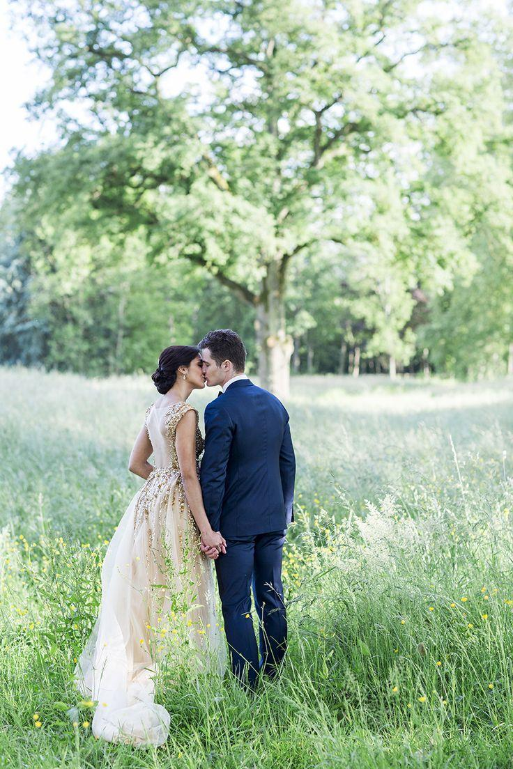 Wedding - Modern Gatsby-Inspired French Wedding   Sparkly Gold Dress