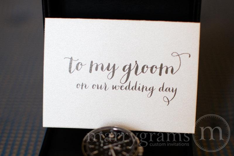 Gift Ideas For Groom On Wedding Day: Wedding Card To Your Groom On Your (Our) Wedding Day