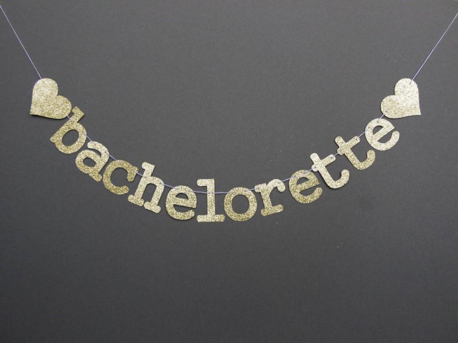 Hochzeit - BACHELORETTE BANNER (GL5) - with heart or diamond / glitter / bachelorette / photo prop / backdrop / party decoration
