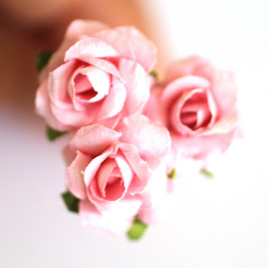 Blushing Pink Roses Bridal Hair Accessories Bohemian Wedding Hair