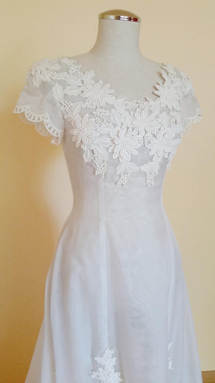 Wedding - Vintage Wedding dress size 3/4