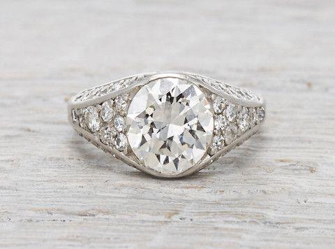Свадьба - .75 Carat Georgian Ring