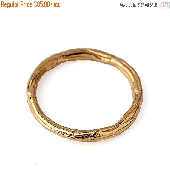 Mariage - SALE 20% OFF - TWIG Ring, Thin Wedding Band, Gold Wedding Band Ring, Thin Gold Ring, Yellow Gold Wedding Band, Organic Wedding Ring