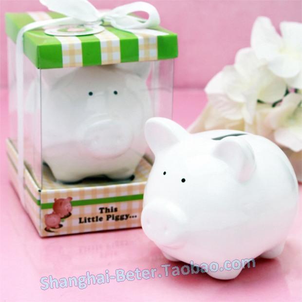 Свадьба - Little White Piggy Ceramic Bank BETER-TC029