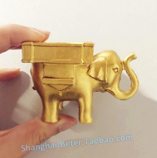 Wedding - Bridal Shower Favors Golden Elephant tealight Holders SZ054