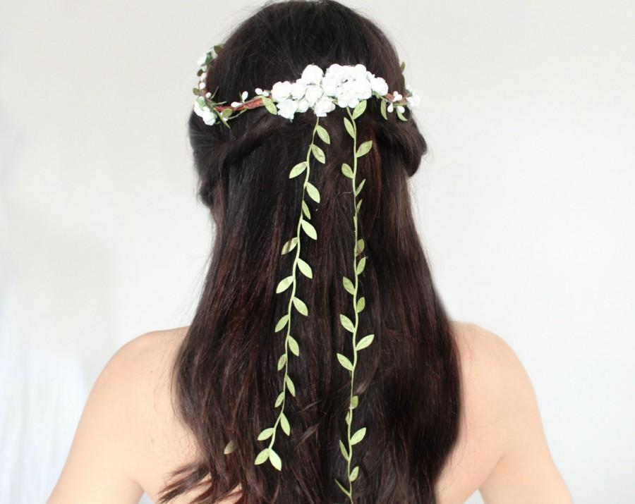 Свадьба - Flower Crown, Flower Adornment, Bridal Headpiece, Wedding headpiece, Destination Wedding, Flower Head Wreath, Rustic Wedding, Floral Crown