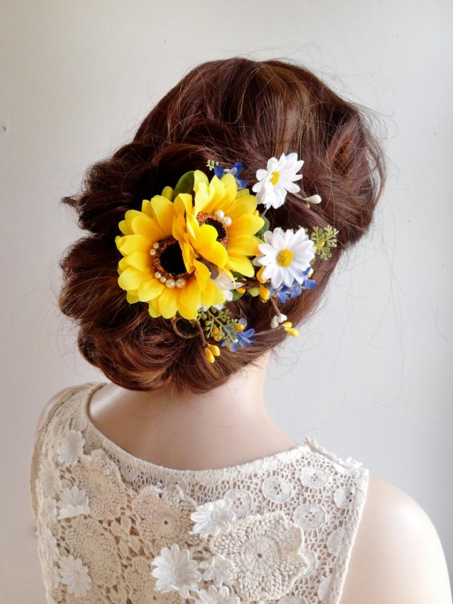 Sunflower Hair Clip Sunflower Hair Comb Daisy Hair Clip Sunflower