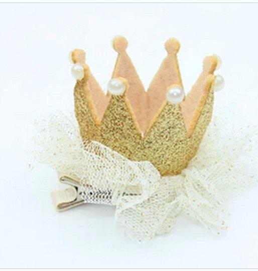 Mariage - Gold crown hair clip
