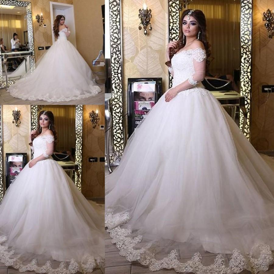 Ball Gown Wedding Dresses With Train : Wedding bridal gown ball with piece on hjklp s store