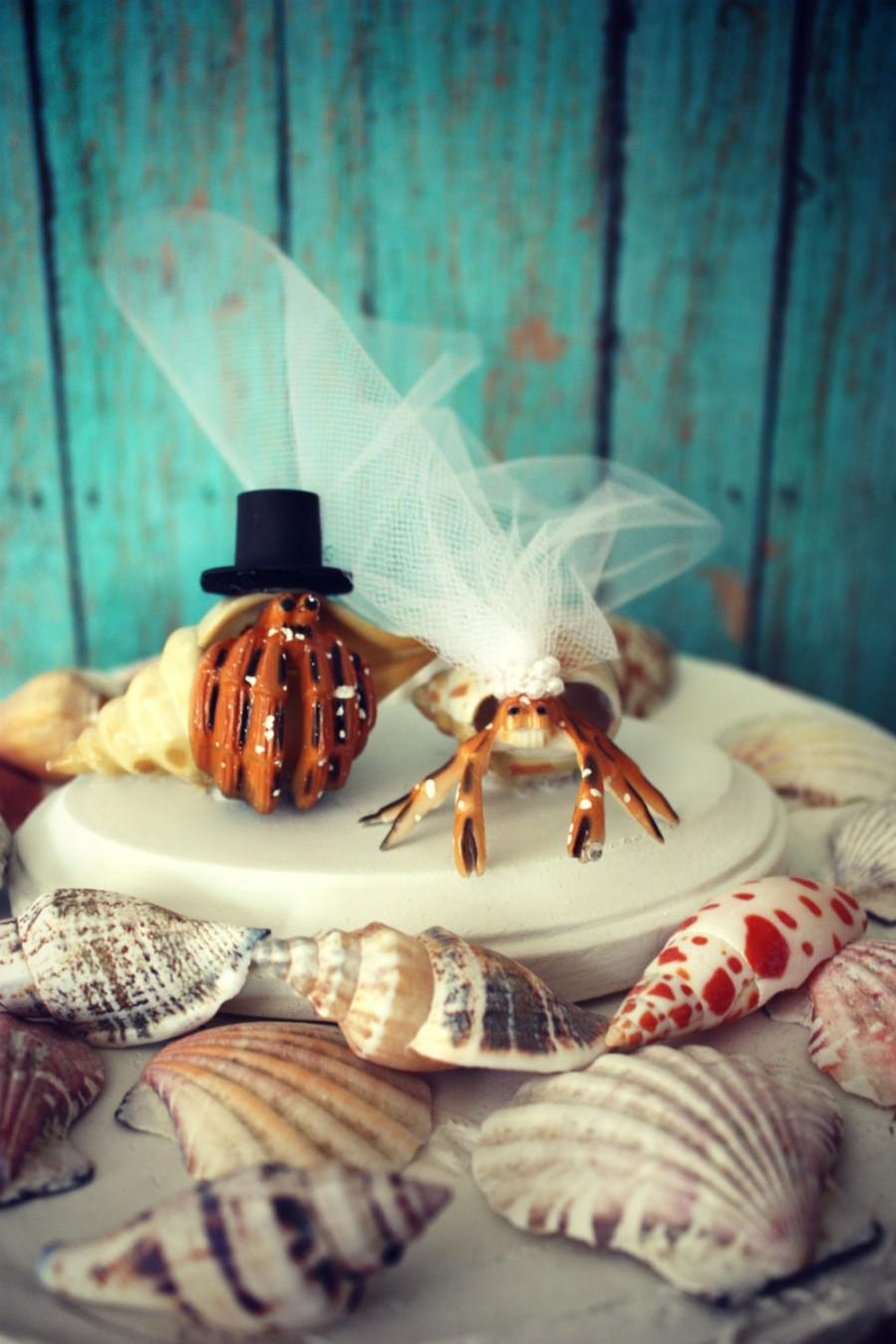 Свадьба - Hermit crab wedding cake topper-crab wedding cake topper-wedding cake topper-Beach wedding-destination wedding-Crabs
