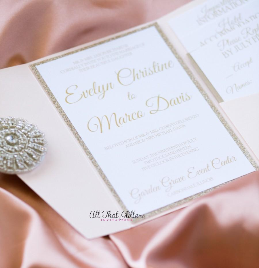 Invitation Gold Glitter Wedding Invitation Suite 2492926 Weddbook