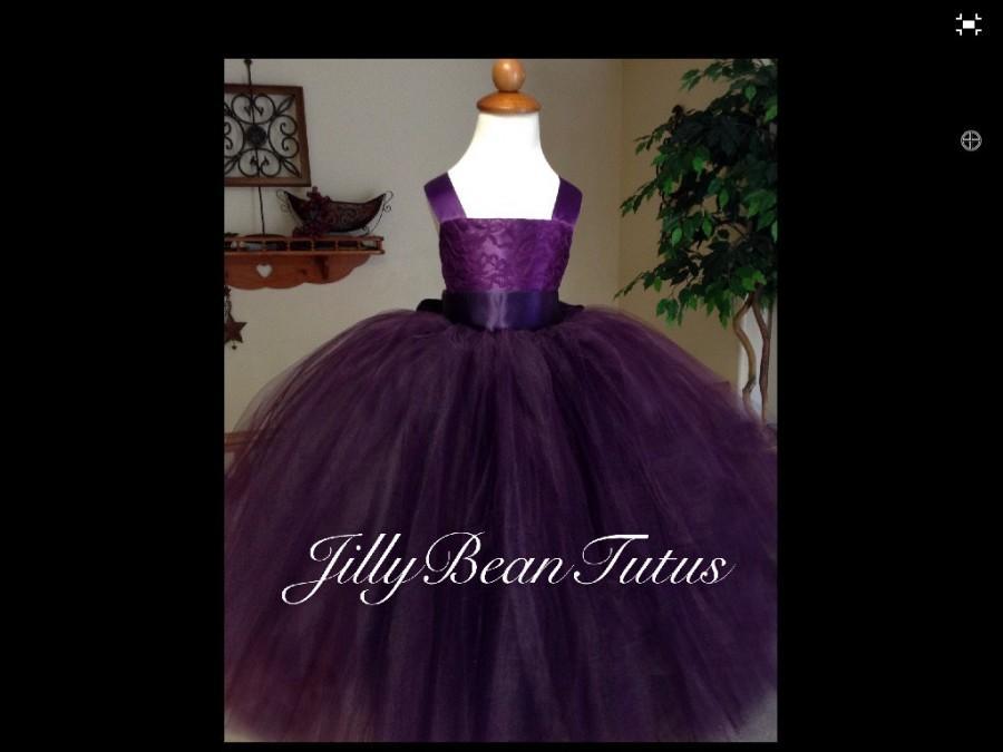 Wedding - Purple Flower Girl Dress