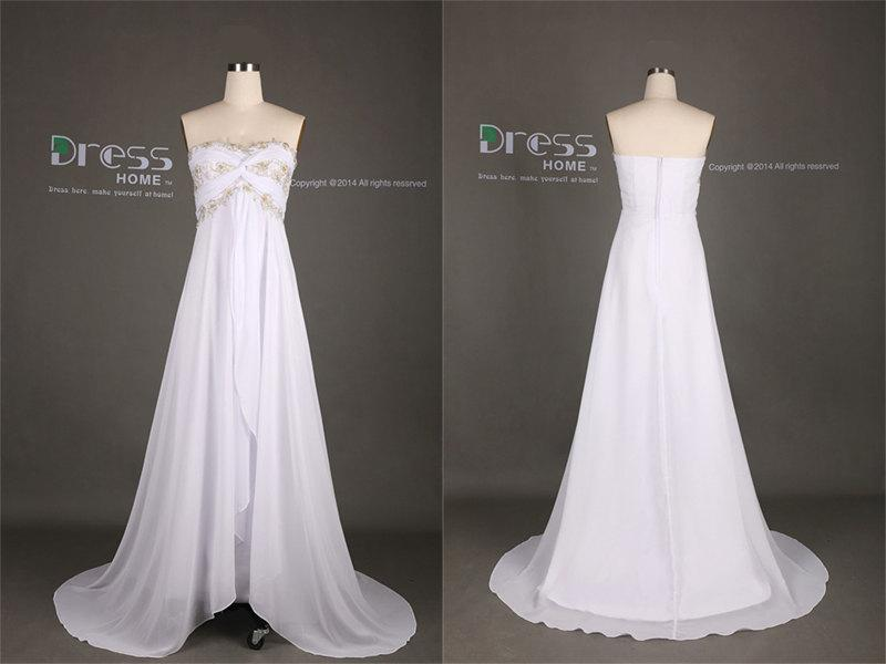 Sweet 16 white sweetheart beading lace flowy long prom for Flowy white wedding dress