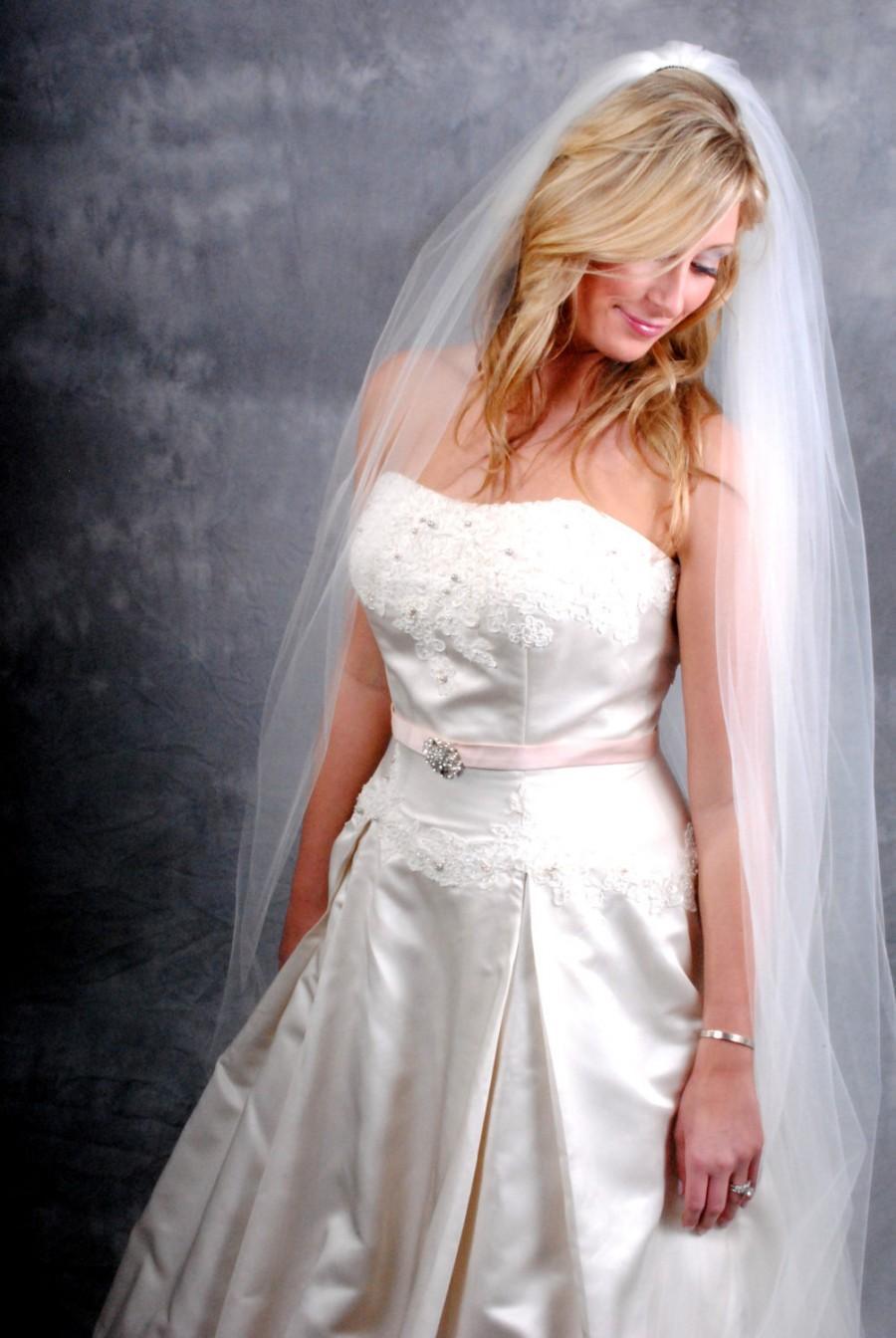 Свадьба - Ivory, Cathedral length, Plain edge veil
