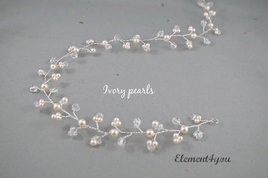 bridal necklet swarovski gold necklace vine pearl pearls listing wedding leaf il