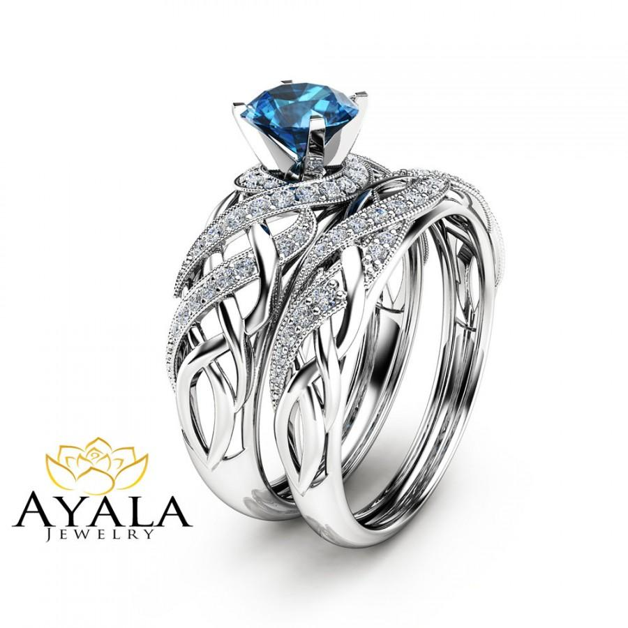 styled filigree art wedding and unique in engagement blue ring media set london deco gold bridal rings topaz white