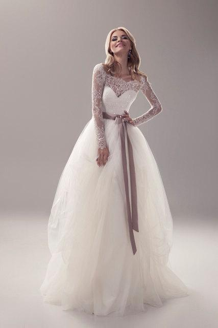 Wedding - Long sleeve Wedding Dress
