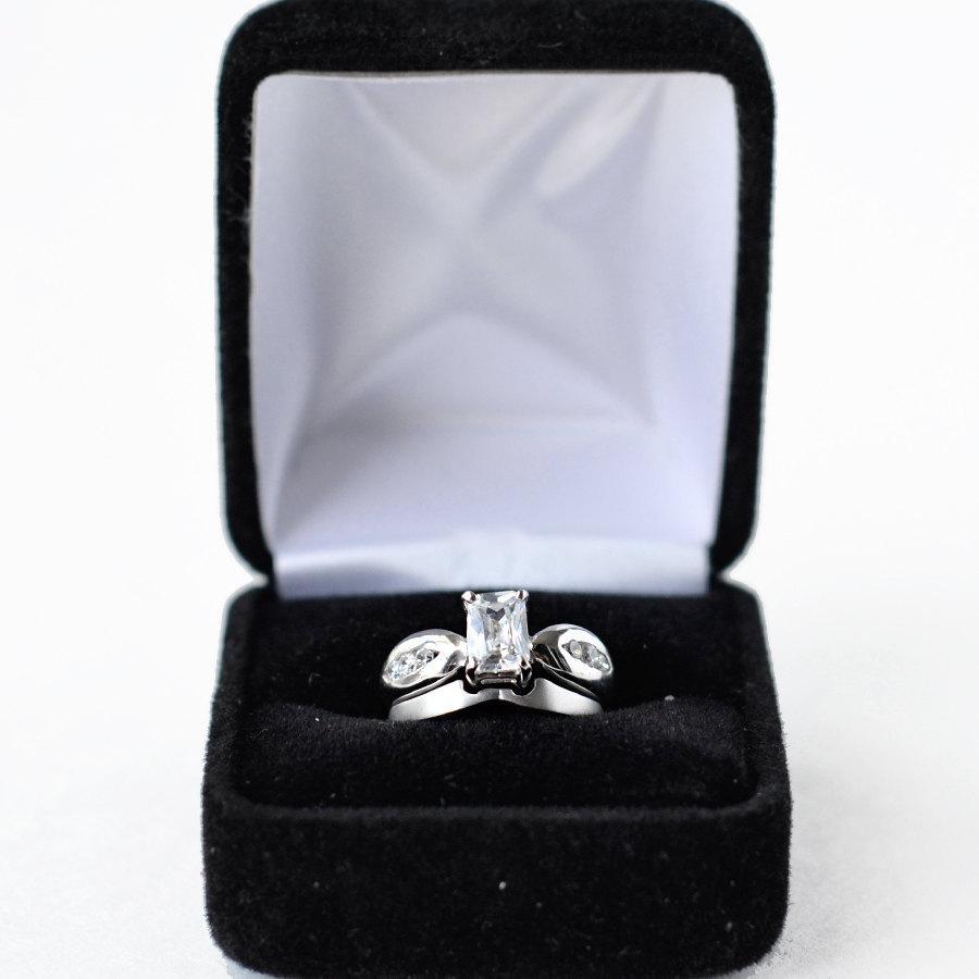 زفاف - cz ring, cz wedding ring, cz engagement ring, wedding ring set, ring set, cz wedding set, sterling silver ring, size 5 6 7 8 9 10- MC121101R