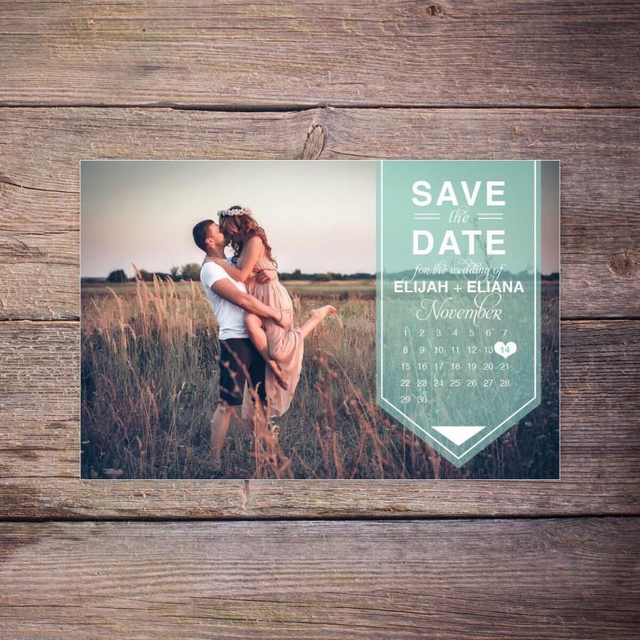 save the date card photo postcard calendar destination wedding