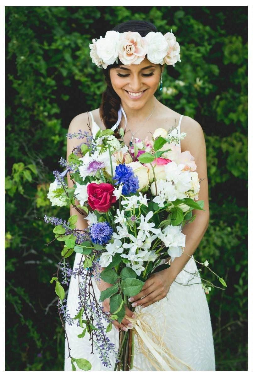 Mariage - Boho Inspired Garden Custom Bridal Bouquet