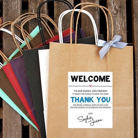 زفاف - WELCOME and THANK YOU ... Wedding Welcome Bag