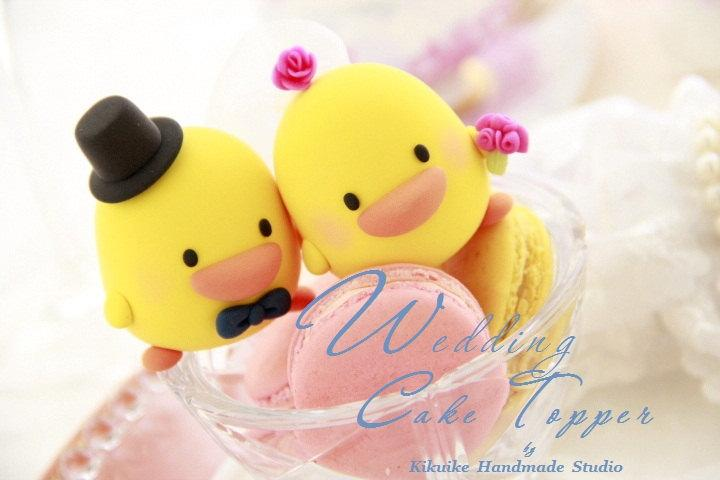 Ducks Wedding Cake Topper -Handmade Love Ducks Cake Topper---k761 ...