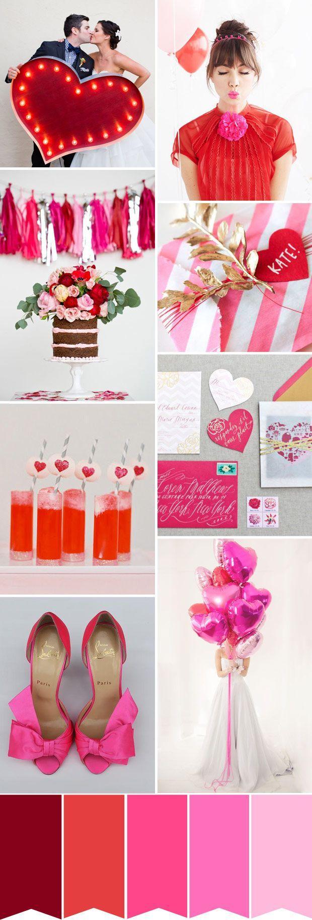 Wedding Hearts Flowers Valentines Day Wedding Inspiration