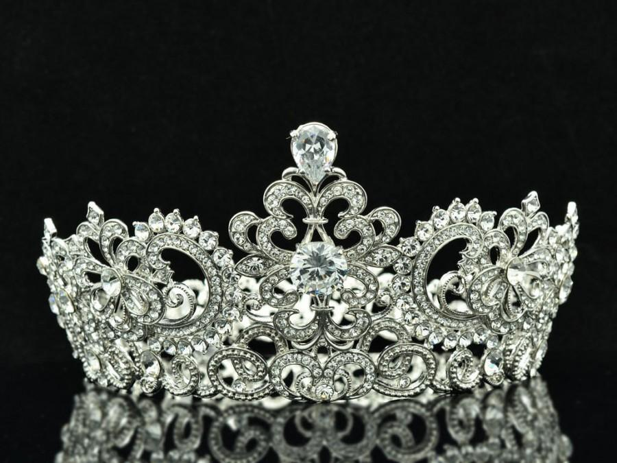 Свадьба - Hi-Q Swarovski Crystal Zircon Symmetric Tiara Crown Wedding Ball Jewelry SHA8648 …