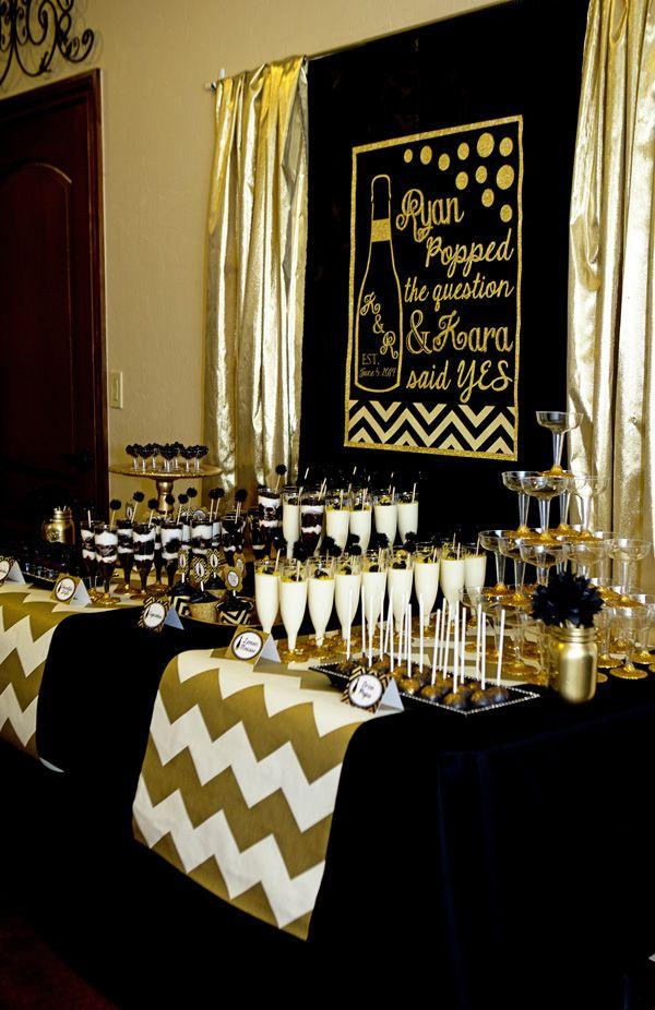 Gold And Black Party Champagne Bridal Shower 2493606 Weddbook