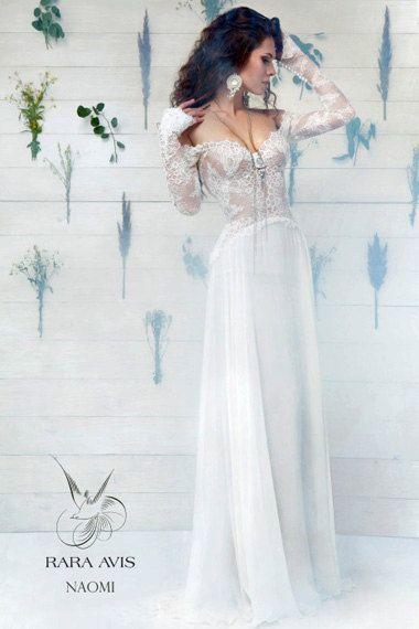 Long Sleeve Wedding Dress NAOMI, Simple Wedding Dress, Wedding Dress ...