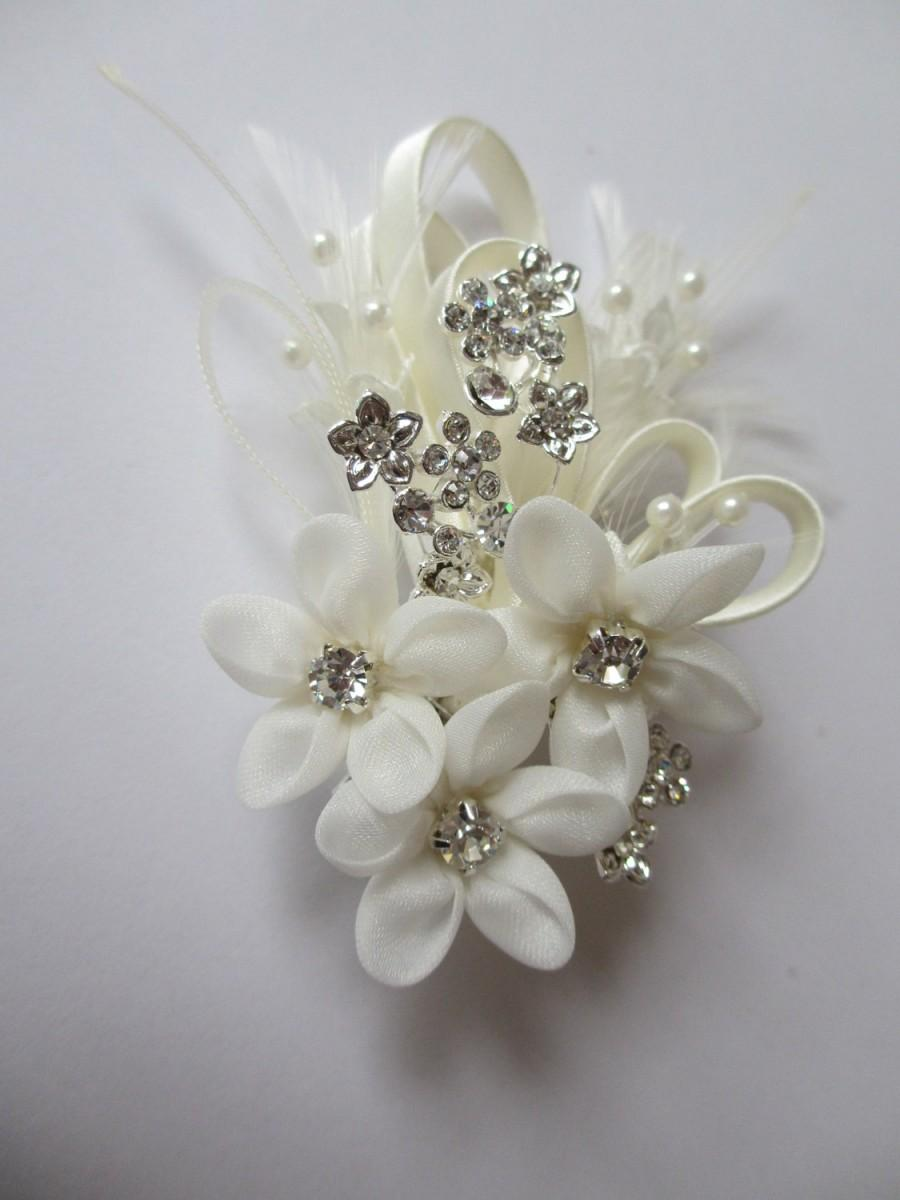 Floral Hair Comb Forget Me Not Bridal Hair Combs Wedding Hair