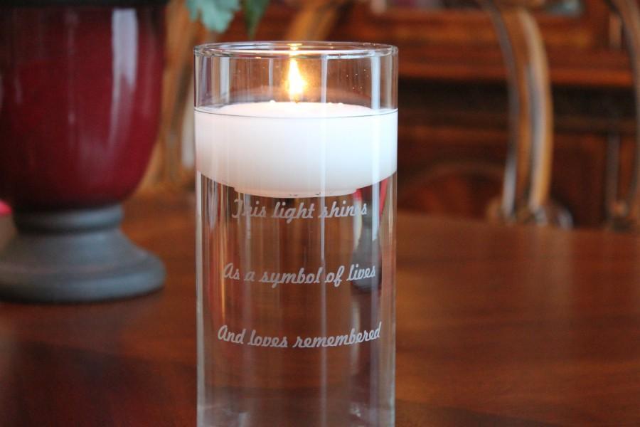 Boda - Memorial Glass Vase and Floating Candle Set