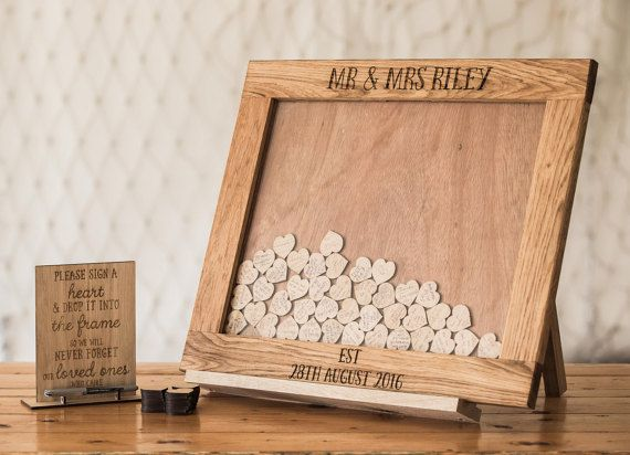 Wedding Guestbook Alternative Heart Drop Box Guest Book Decor Top Dropbox