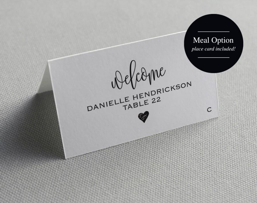 free wedding place card template