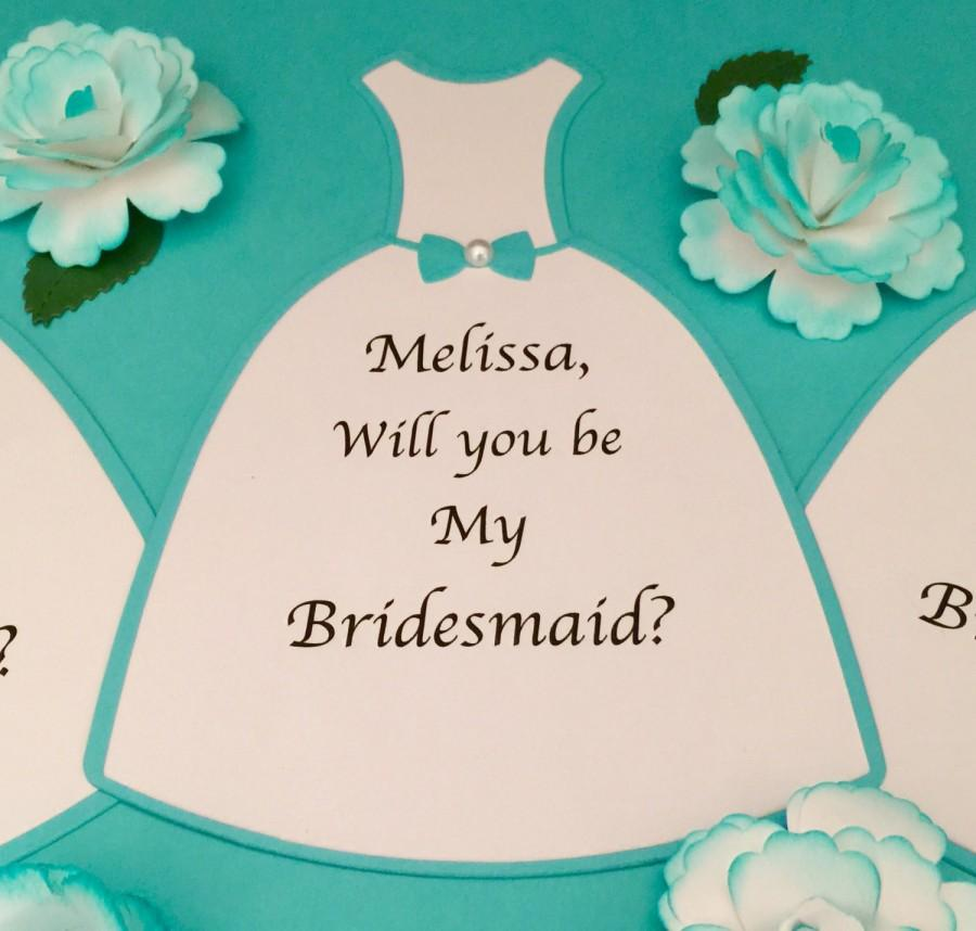 Wedding Dress Die Cut Cards! Set Of 3 Personalized Cards! Will You ...
