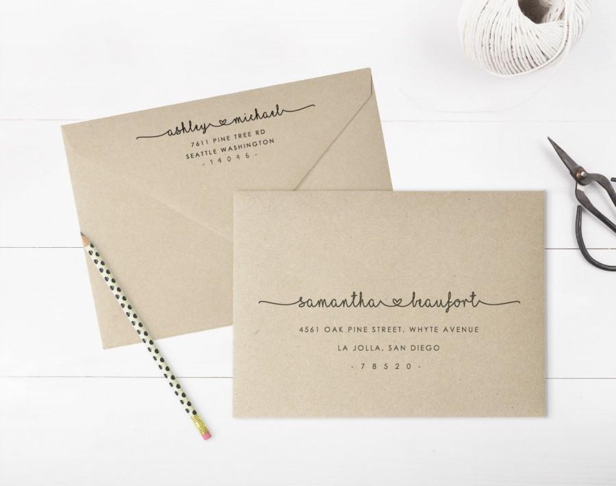printable envelope address template wedding envelope address fully editable instant download. Black Bedroom Furniture Sets. Home Design Ideas