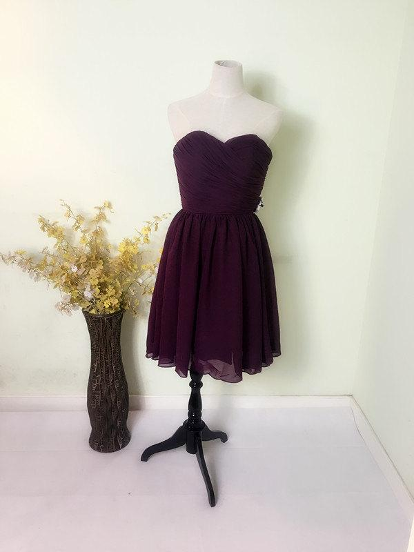 Mariage - short dress,prom short dress,bridemaid dress,wedding gown,party dress,formal dress,purple dress