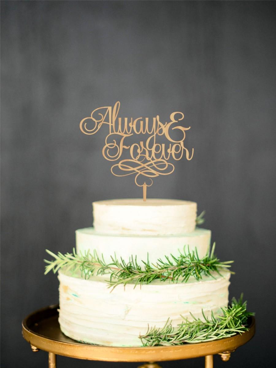 Gold Rustic Cake Topper