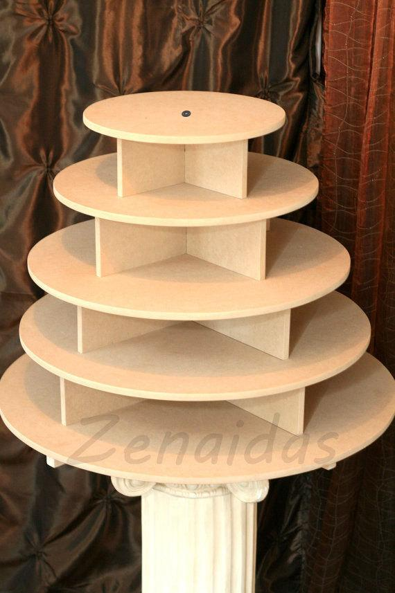 Cupcake Stand 5 Tier Round 180 Cupcakes Threaded Rod And ...