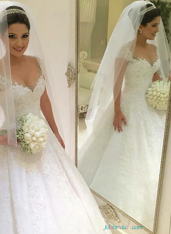 Wedding - H1646 Feminine sweetheart princess wedding dresses ball gowns