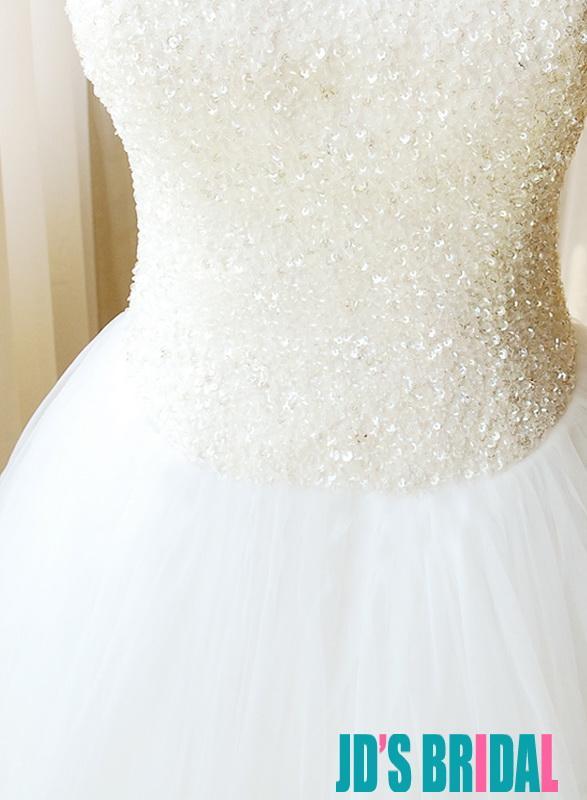 Hochzeit - H1657 Feminine sparkly princess tulle ballgown wedding dresses