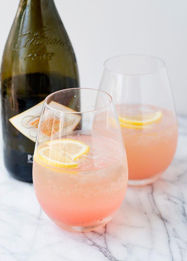 Wedding - Rhubarb Fizz Cocktail