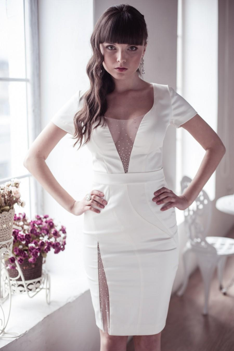 Short Fitted Bridal Dresses