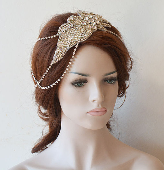Wedding Hair Accessory, Bridal Head Chain, Wedding Headpiece, Wedding Hair Jewelry, Bridal ...