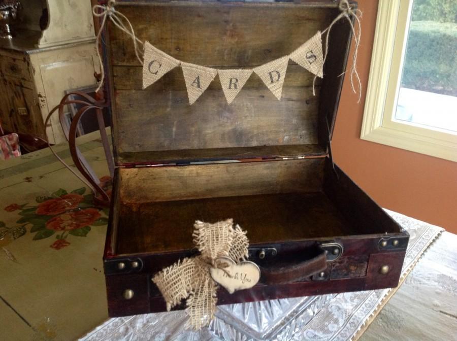 Mariage - Rustic Wedding Card Box/Burlap Banner. Rustic Chic Wedding.